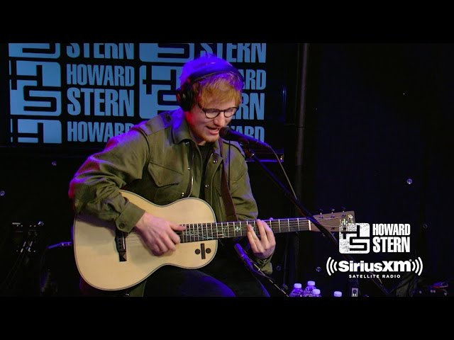 Ed Sheeran Covers 50 Cent, Coldplay, and Blackstreet Live on the Howard Stern Show