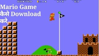 How to download mario game in android