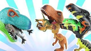 Dinosaurs Eat Another Dino! Chomper Monster FunToy Story to Eat Everything. 먹보 공룡이 나타났다 공룡군단 도와줘요