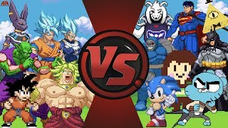 WHY DOES DRAGON BALL ALWAYS WIN? (Dragon Ball Goku vs Sonic, Undertale, Superman, Gumball) Animation