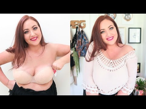 Strapless Bra Try On and Review for Big Boobs (Plus Size)