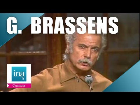 Georges Brassens L orage live officiel Archive INA