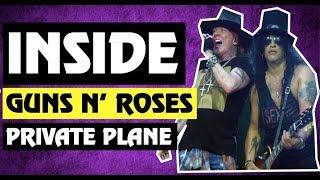 Inside Axl Rose & Slash Guns N' Roses Plane to Dublin, Ireland & History of 1ST Class Travel(2017)