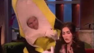 Megan Fox Gets Scared By a Giant Banana! on Ellen Show