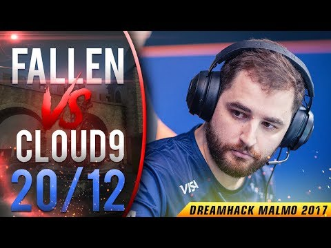 CS:GO POV FalleN vs Cloud9 | 20/12 (Cbble) @ DreamHack Masters Malmö 2017