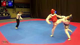 213- Frederik Emil Olsen, Soo Shim TKD Klubb vs. Taha Zahedy, Chae Taekwondo Sweden 27-7