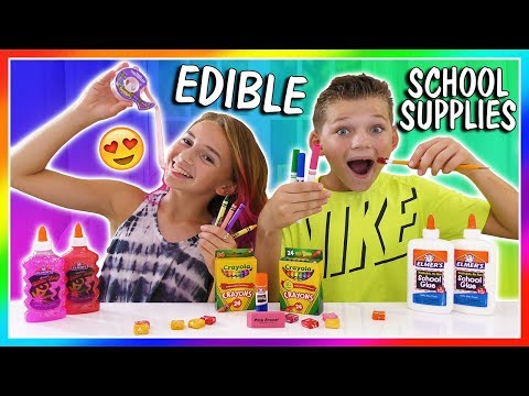 MAKING EDIBLE SCHOOL SUPPLIES | HOW TO SNEAK CANDY INTO CLASS | We Are The Davises