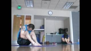 Exercise with Charlie at North Kansas City Y Yoga class with Angela