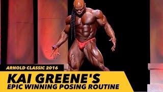 Kai Greene's Epic Winning Posing Routine | Arnold Classic 2016