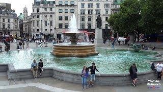 Trafalgar Square in London City of Westminster Central London Трафальгарская площадь City of London.