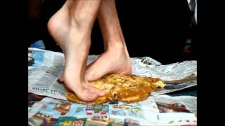 Video 49 - Barefoot crushing cake