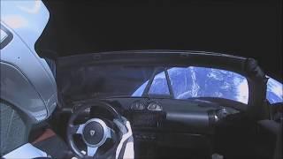 Car In Space Falcon Heavy Elon Musk Tesla Roadster Starman Interstellar Travel