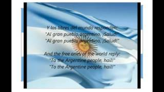 Argentine National Anthem Himno Nacional Argentino with English & Spanish Lyric