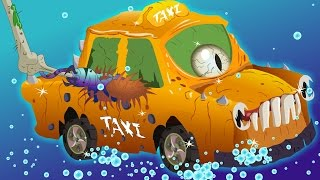 taxi car wash   Halloween   scary videos for kids   Car Wash videos