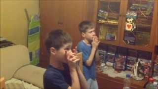 Sergio Ramos Goal-Champions League Final-Two little Serbian fans reaction