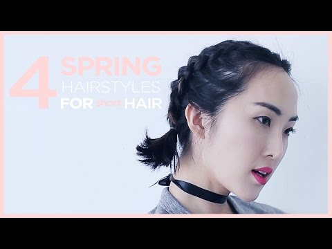 4 Spring Hairstyles for Short Hair