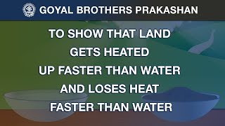 To show that land gets heated up faster than water and loses heat faster than water