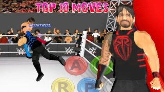 Top 10 Moves of Roman Reigns   WR3D