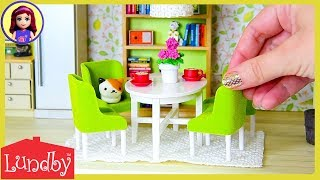 Lundby Smaland Dolls House with Working Lights! Setup Tour with Furniture   Kids Toys