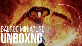 Balrog Model Unboxing Lord of the Rings Strategy Battle Game