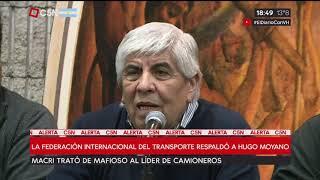 La Federación Internacional Del Transporte Respaldó A Hugo Moyano.