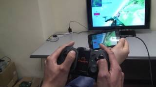 Use bluetooth controller to play smartphone games on TV with no lag
