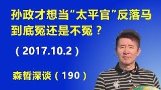 """孙政才想当""""太平官""""反落马,到底冤还是不冤 (2017.10.2)"""