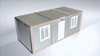 Flat Pack Container - Office Modular Cabin Assembly