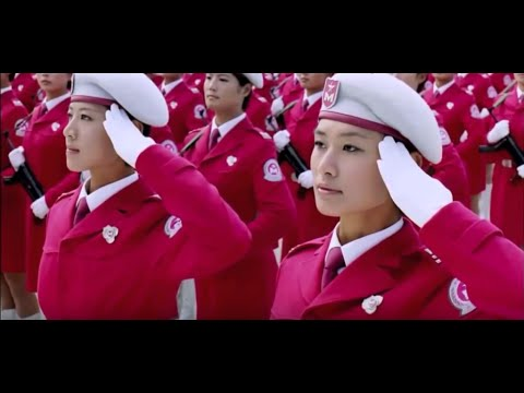 watch China & North Korea's Beautiful female soldiers in military parade HD