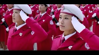 China & North Korea's Beautiful female soldiers in military parade HD