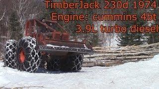 Timberjack Skidder - Pushing a tree over