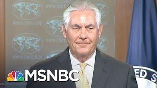 Rex Tillerson Fears Moscow Anger Over Counter-Propaganda Initiative | Rachel Maddow | MSNBC