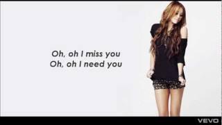 Miley Cyrus - Stay ( Lyrics)
