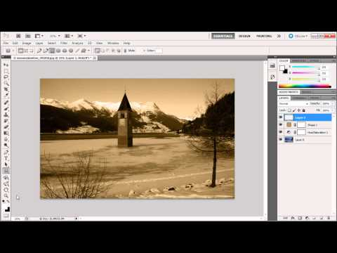 Photoshop Tutorial: Create a Sepia Effect -HD-