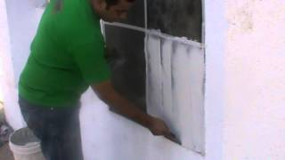 wall putty application 1st coat