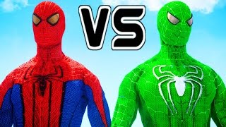 THE AMAZING SPIDER-MAN VS GREEN SPIDERMAN