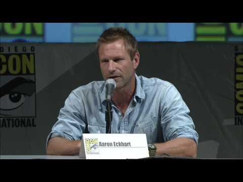 Rueda de prensa Comic Con Battle Los Angeles:  Aaron Eckhart