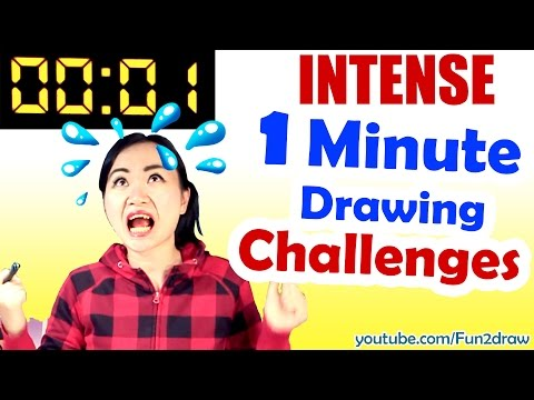 Art Drawing Challenge 1 MINUTE to Beat REAL TIME