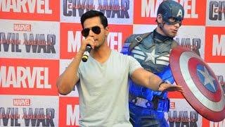 UNCUT - Varun Dhawan As Marvel's Captain America Civil War | Varun Dhawan Dubbing For Hindi Version