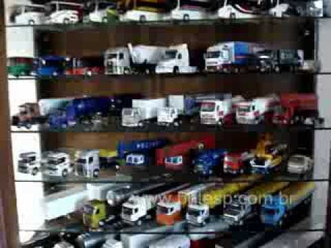 Coleção Bhtesp Miniaturas caminhões ônibus Tratores