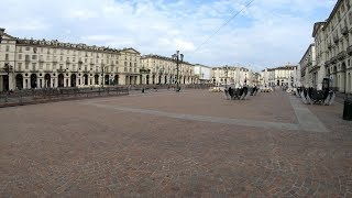 Turin Italy. A Walk In the City Between Two Great Squares