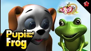 Pooppy and the frog | malayalam cartoon story for children from pupi2