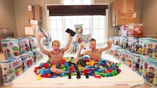 BATHTUB FULL OF 10,000 LEGOS CHALLENGE! (FEAT. TANNER FOX)