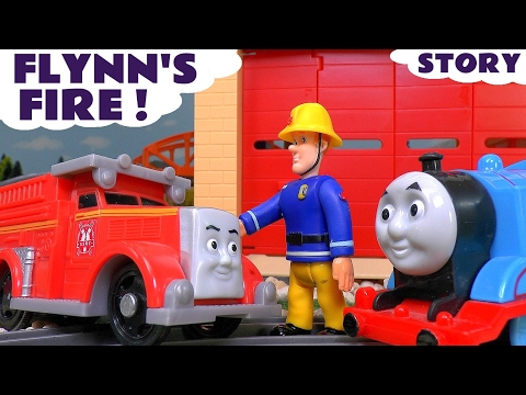 Thomas and Friends with Fireman Sam Flynn s Fire Toy Trains Episode Fun Family Story ToyTrains4u