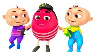 Five Little Babies in Humpty Dumpty | Nursery Rhymes | Cartoon Animation For Kids