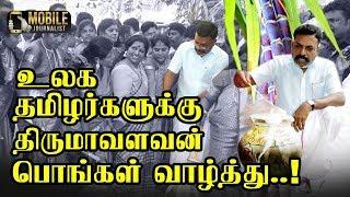 உலக தமிழர்களுக்கு திருமா பொங்கள் வாழ்த்து..! | Thol.Thirumavalavan Pongal Celebration | Videos