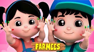 Where Is Thumbkin | Kindergarten Nursery Rhymes For Toddlers | Cartoon Videos For Babies by Farmees