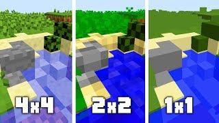 MINECRAFT: TEKSTURY 4x4 vs 2x2 vs 1x1