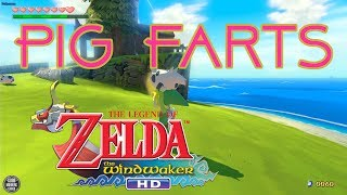 💩Pig Farts in Link's face!💩 Legend of Zelda Wind Waker HD #9 -commentary playthrough guide