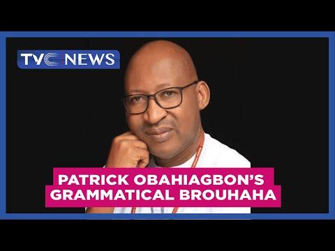 Watch Hon. Patrick Obahiagbon's latest grammatical brouhaha